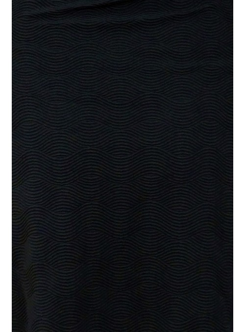 Maillot 1 pièce bicolore avec bonnet - St Domingue Noir bande bleu dur