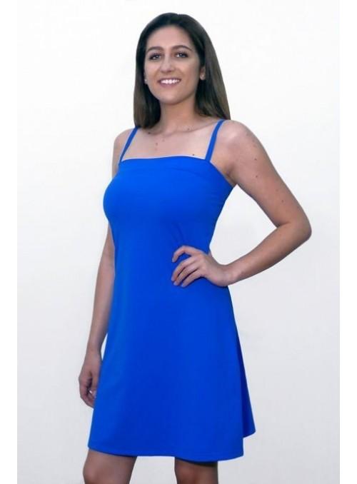 Robe Bretelles Mandy - Bleu dur
