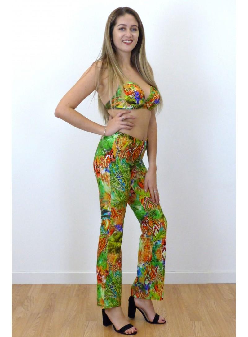 Pantalon confortable  Kim - Imprimé Palmier