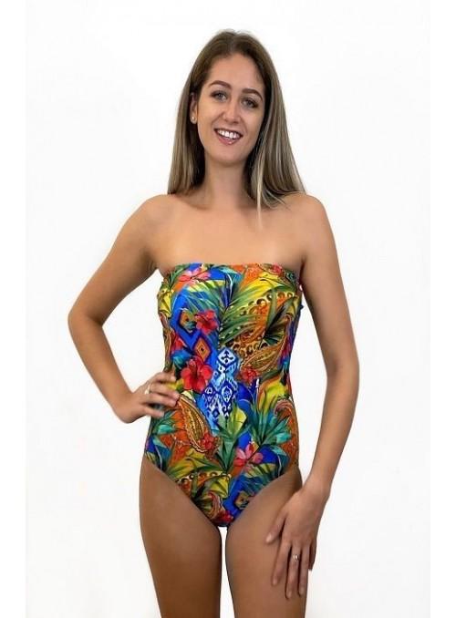 Bustier Miami - Imprimé Cachemire - Taille unique, maillot de bain 1 pièce