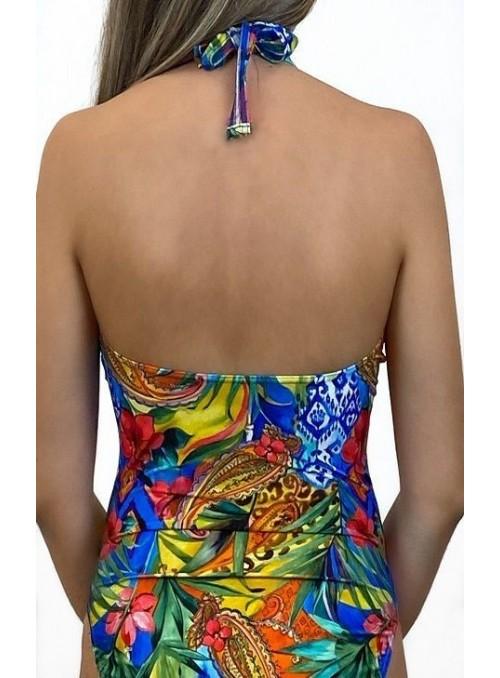 Maillot 1 pièce avec couture sous poitrine, sans armatures, Chicago Imprimé Cachemire
