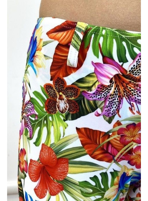 Pantalon confortable  Kim - Imprimé Orchidée