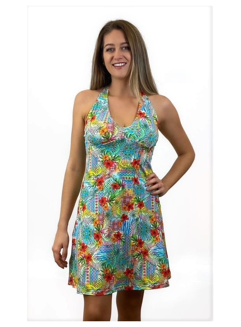 Robe dos nu - New York - Imprimé Flower