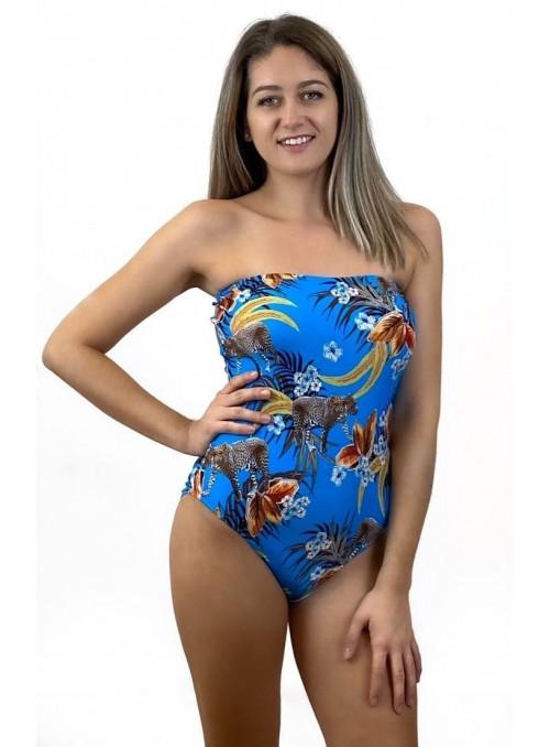 Bustier Miami - Imprimé Guépard - Taille unique, maillot de bain 1 pièce