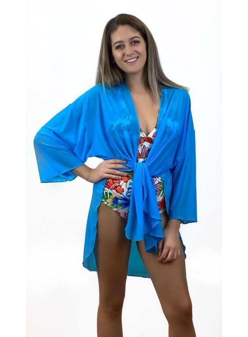 Chemise - Voile Bleu turquoise