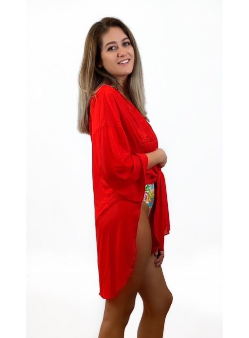 Chemise - Voile rouge